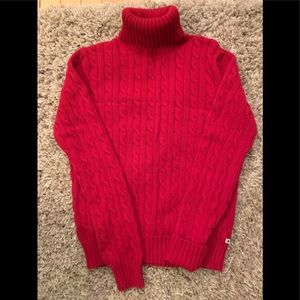 Tommy Hilfiger red turtleneck sweater. New.  Small